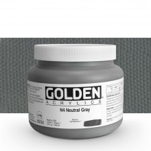Golden : Heavy Body Acrylic Paint : 946ml : Neutral Grey No.4 : Please allow an extra week for delivery