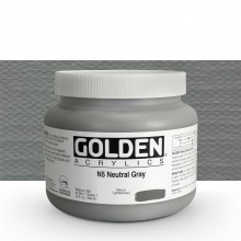 Golden : Heavy Body Acrylic Paint : 946ml : Neutral Grey No.5 : Please allow an extra week for delivery