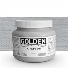 Golden : Heavy Body Acrylic Paint : 946ml : Neutral Grey No.7 : Please allow an extra week for delivery