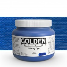 Golden : Heavy Body Acrylic Paint : 946ml : Primary Cyan : Please allow an extra week for delivery