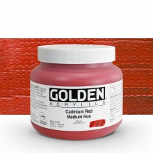 Golden : Heavy Body Acrylic Paint : 946ml : Cadmium Red Medium Hue : Please allow an extra week for delivery