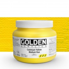 Golden : Heavy Body Acrylic Paint : 946ml : Cadmium Yellow Medium Hue : Please allow an extra week for delivery