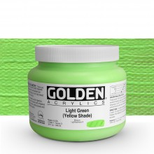 Golden : Heavy Body Acrylic Paint : 946ml : Light Green Yellow Shade : Please allow an extra week for delivery