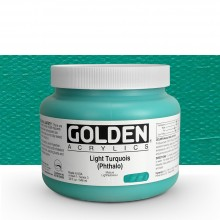 Golden : Heavy Body Acrylic Paint : 946ml : Light Turquoise Phthalo