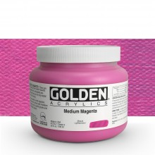Golden : Heavy Body Acrylic Paint : 946ml : Medium Magenta : Please allow an extra week for delivery