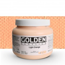 Golden : Heavy Body Acrylic Paint : 946ml : Light Orange IV : Please allow an extra week for delivery