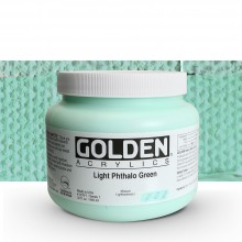 Golden : Heavy Body : Acrylic Paint : 946ml : Light Phthalo Green I : Please allow an extra week for delivery