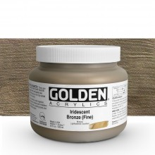 Golden : Heavy Body : Acrylic Paint : 946ml : Bronze Fine Iridescent : Please allow an extra week for delivery