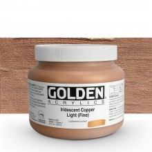Golden : Heavy Body Acrylic Paint : 946ml : Copper Light Fine Iridescent : Please allow an extra week for delivery
