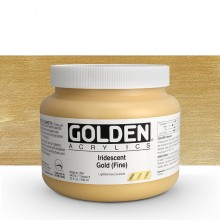 Golden : Heavy Body Acrylic Paint : 946ml : Gold Fine Iridescent : Please allow an extra week for delivery
