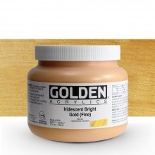 Golden : Heavy Body Acrylic Paint : 946ml : Bright Gold Fine Iridescent