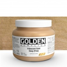 Golden : Heavy Body Acrylic Paint : 946ml : Gold Deep Fine Iridescent : Please allow an extra week for delivery