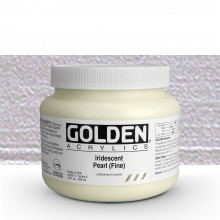 Golden : Heavy Body Acrylic Paint : 946ml : Pearl Fine Iridescent : Please allow an extra week for delivery