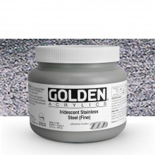 Golden : Heavy Body Acrylic Paint : 946ml : Stainless Steel Fine Iridescent
