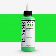 Golden : High Flow : Acrylic Paint : 119ml : Fluorescent Green : S5