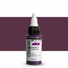 Golden : High Flow : Acrylic Paint : 30ml : Permanent Violet Dark : S7