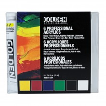 Golden : Heavy Body : Acrylic Paint : Intro Set : 6x22ml