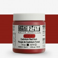 Golden : SoFlat : Matte Acrylic Paint : 118ml : Cadmium Red Dark
