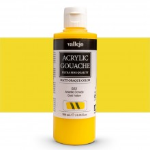 Vallejo : Acrylic Gouache : 200ml : Gold Yellow