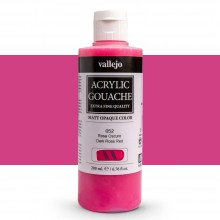 Vallejo : Acrylic Gouache : 200ml : Dark Rose Red