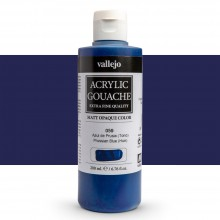 Vallejo : Acrylic Gouache : 200ml : Prussian Blue (Hue)