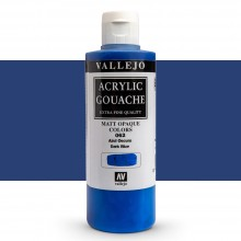 Vallejo : Acrylic Gouache : 200ml : Dark Blue