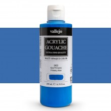 Vallejo : Acrylic Gouache : 200ml : Primary Blue