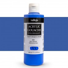 Vallejo : Acrylic Gouache : 200ml : Ultramarine Blue Light