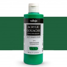 Vallejo : Acrylic Gouache : 200ml : Permanent Green