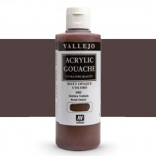 Vallejo : Acrylic Gouache : 200ml : Burnt Umber