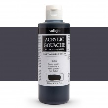 Vallejo : Acrylic Gouache : 200ml : Carbon Black