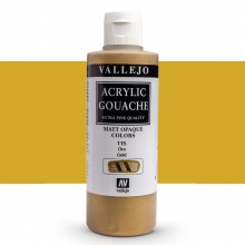 Vallejo : Acrylic Gouache : 200ml : Gold