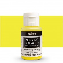 Vallejo : Acrylic Gouache : 35ml : Primary Yellow