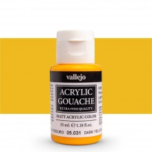 Vallejo : Acrylic Gouache : 35ml : Yellow Dark