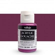 Vallejo : Acrylic Gouache : 35ml : Red Violet