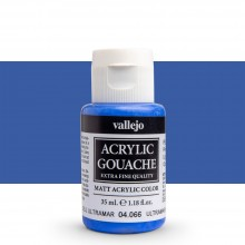 Vallejo : Acrylic Gouache : 35ml : Ultramarine Blue Light