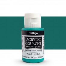 Vallejo : Acrylic Gouache : 35ml : Viridian