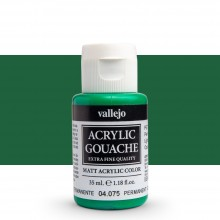 Vallejo : Acrylic Gouache : 35ml : Permanent Green