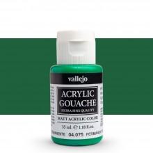 Vallejo : Acrylic Gouache : 35ml : Permanent Green