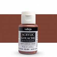 Vallejo : Acrylic Gouache : 35ml : Burnt Sienna