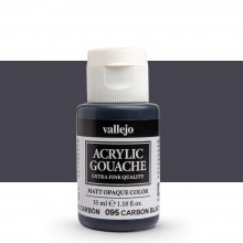 Vallejo : Acrylic Gouache : 35ml : Carbon Black