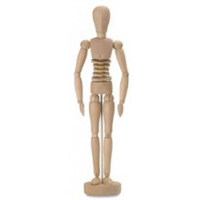 JAS : Fleximan 12In Wooden Figure