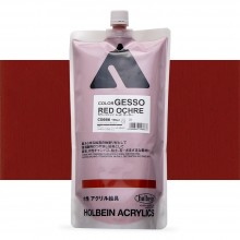 Holbein : Coloured Acrylic Gesso : 900ml : Red Ochre