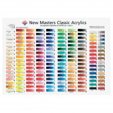 New Masters Acrylic Printed Colour Chart