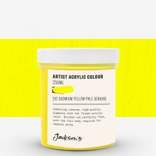 Jackson's : Artist Acrylic Paint : 250ml : Cadmium Yellow Pale Genuine