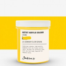Jackson's : Artist Acrylic Paint : 250ml : Cadmium Yellow Genuine