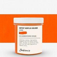 Jackson's : Artist Acrylic Paint : 250ml : Cadmium Orange Genuine