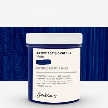 Jackson's : Artist Acrylic Paint : 250ml : Phthalo Blue Green Shade