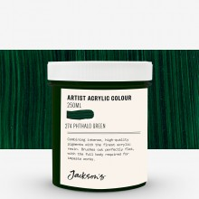 Jackson's : Artist Acrylic Paint : 250ml : Phthalo Green