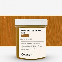 Jackson's : Artist Acrylic Paint : 250ml : Yellow Ochre